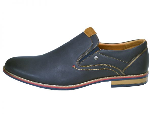 Herren Gr.40-45 Business Slipper Leder-Optik Schuhe Bootsschuhe NEU Halb 2601x