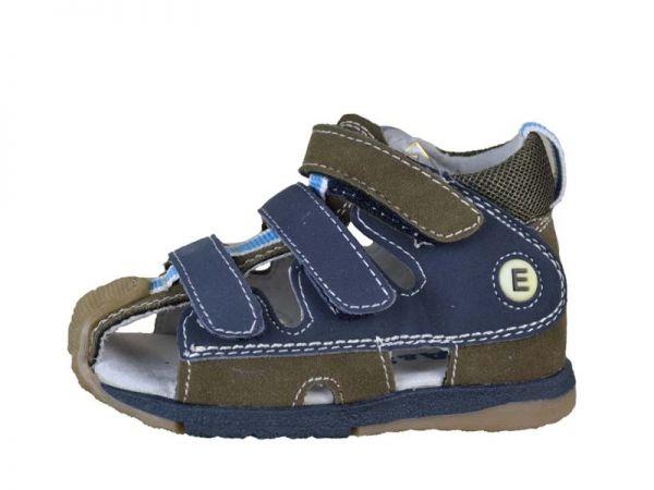 Jungen Sandalen NEU innen Leder Trekking Sandale Outdoor Schuhe Gr.19-24 2422