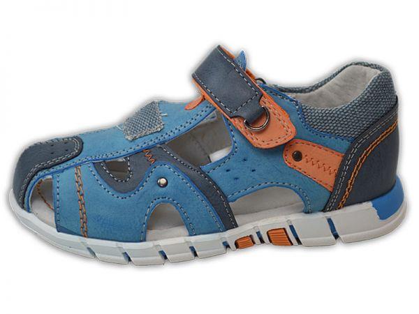 Jungen Mädchen Sandalen innen Leder Outdoor Sandalette Trekking Gr.25-30 2452