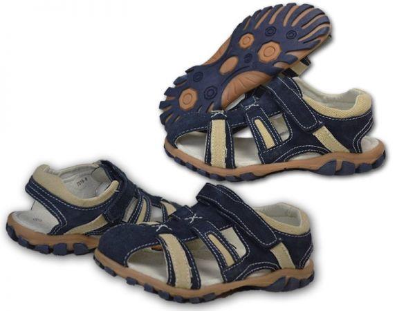 Jungen Mädchen Sandalen NEU Leder-aussen Outdoor Sandalette Trekking 2454