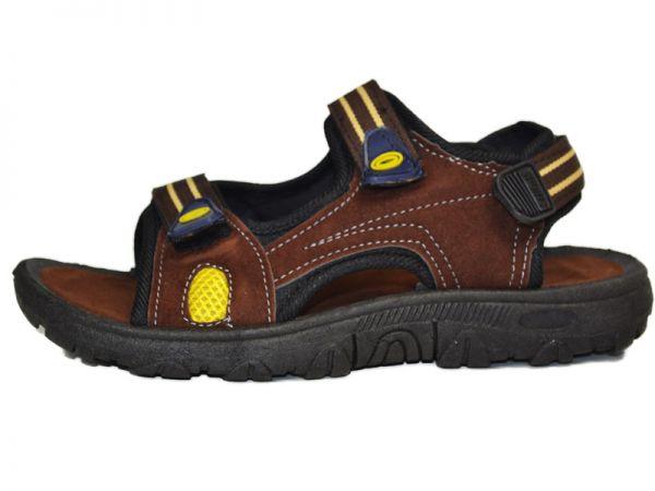 Jungen Gr.28-35 Leder Sandale Trekking-Sandalette Outdoor Schlappen 2459x