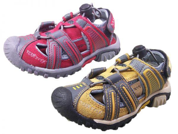 Jungen Sandalen NEU Leder Outdoor Trekking Sandalette geschlossen Gr.31-34 2482