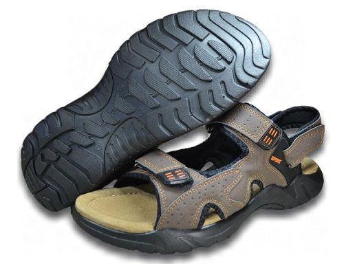 Herren Sandale innen Leder Trekking-Sandalen NEU Outdoor Sabots GR.47-50 2656