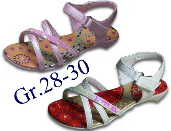 Mädchen Sandale NEU Sandalen ca 2cm Absatz Sandaletten Plateau Gr.28-30 2441