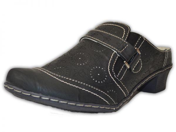 Damen Schlappen Pantoletten ca 4cm Absatz Clogs Slipper Sandalen Gr.36-41 2592
