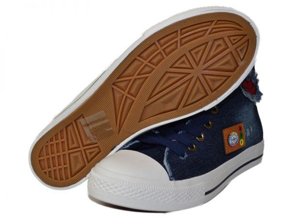 Sneaker Textilschuhe Hochschaft Stoffschuhe Canvas Turnschuhe Gr.36-41 2500