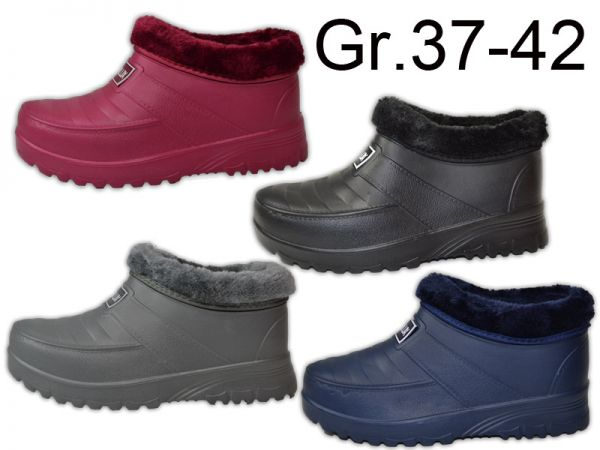 Damen Gummistiefel Gummischuhe Galosche Gartenschuhe Clogs NEU Gr.37-42 2734