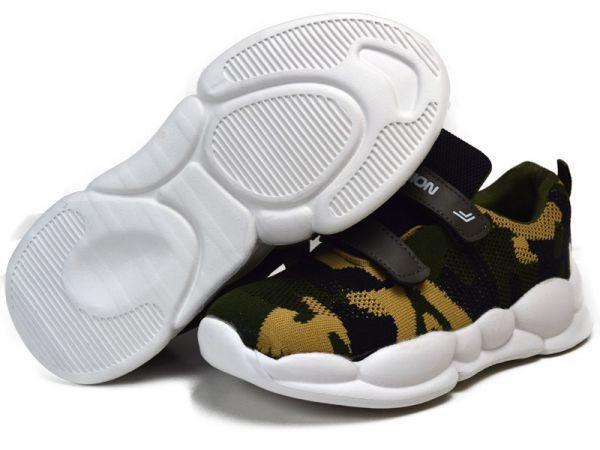 Camouflage Sneaker Gr30-35 leicht Halbschuhe weiße Sohle Turnschuhe Plateau 2074