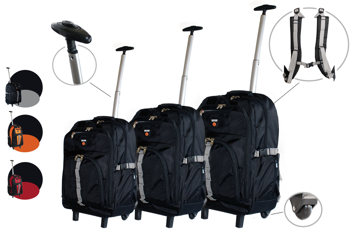 wanderrucksack trolley reisetasche reisetrolley schultrolley ranzen ebay. Black Bedroom Furniture Sets. Home Design Ideas