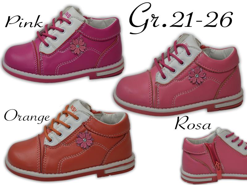 Details zu Mädchen Schuhe Reißverschluss innen Leder NEU Sneaker Halbschuhe @2001Y