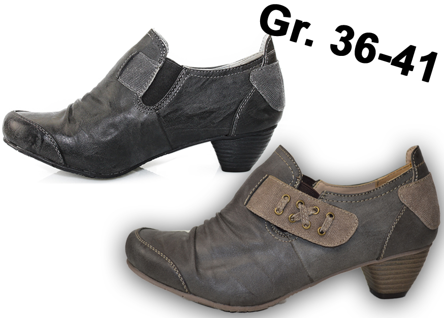 3836a6894777a1 Damen Pumps Leder Optik NEU Ankle Boots SCHUHE Stiefeletten Klettverschluß  2578X