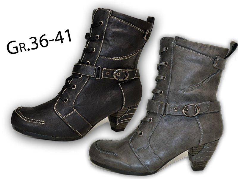 02b7889b95bafb Damen Absatz Stiefeletten Neu Warmfutter Stiefel Boots Winterstiefel  25938y